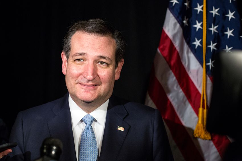 Senator Ted Cruz speaks to Texas reporters in Columbia following the South Carolina Republican presidential primary on Feb. 20, 2016.