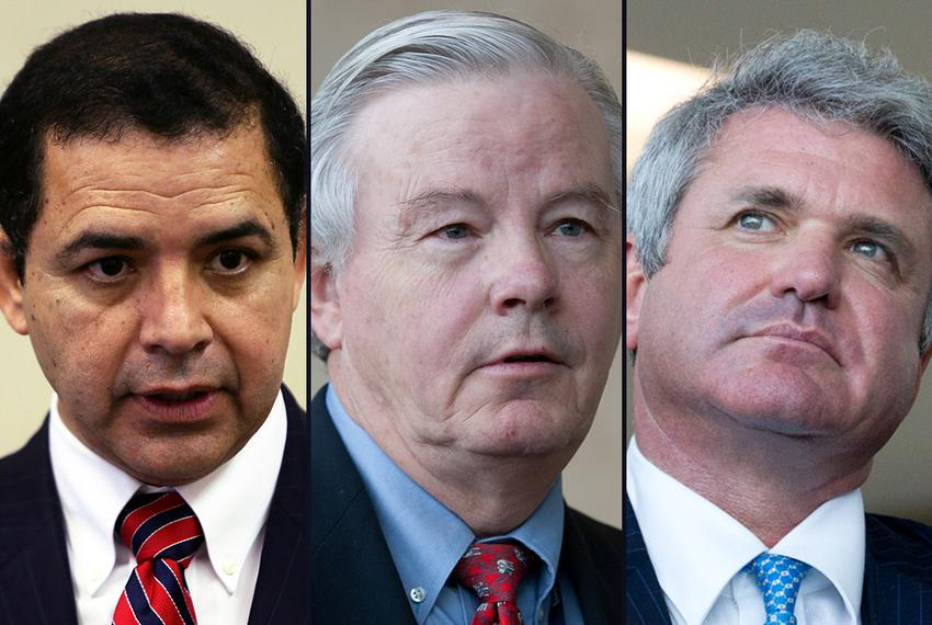 U.S. Reps. Henry Cuellar, D-Laredo, Joe Barton, R-Ennis, and Michael McCaul, R-Austin.