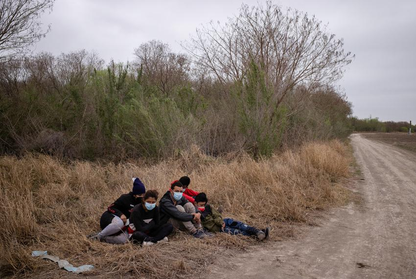 Asylum-seeking unaccompanied minors from Central America are separated from other migrants by U.S. Border Patrol agents afte…