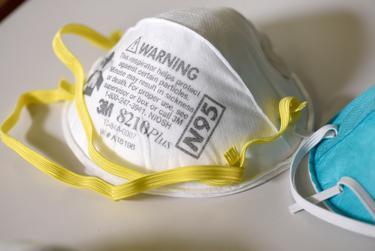 An N95 respiration mask.