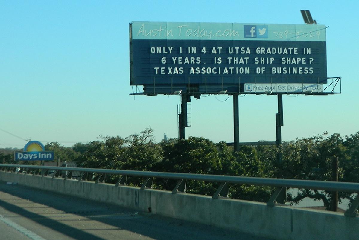 Texas billboard tells liberals to keep driving until they