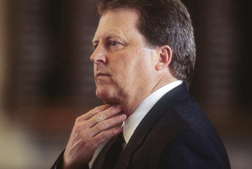 Former state Rep. Paul Sadler, D-Henderson, during the 77th Texas legislative session in May 2001.