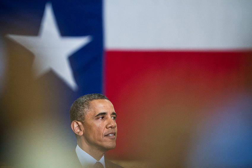 President Barack Obama speaking in Austin on Thursday, May 9, 2013.