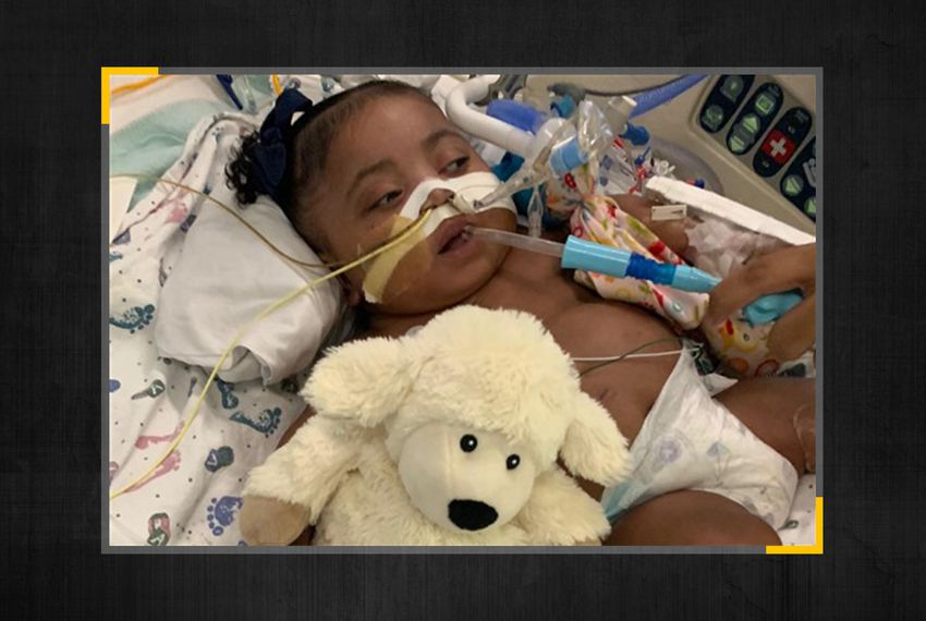 Tinslee Lewis was born prematurely at Cook Children's Medical Center, where she has spent her entire life.