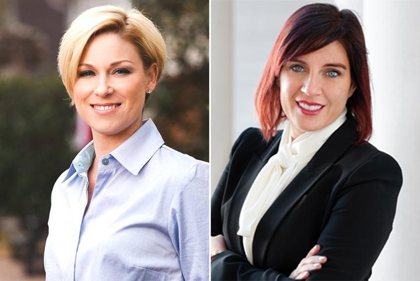State Rep. Sarah Davis, R-University Place (left), and her Republican primary challenger, Susanna Dokupil.