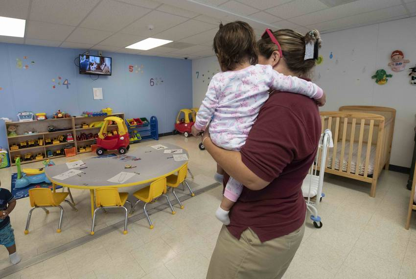 Dilley, TX  August 23, 2019: A nursery facility for immigrant children at the South Texas Family Residential Center outsid...